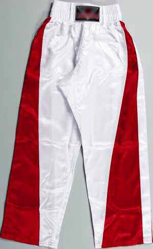 PANTALON FULL CONTACT BLANC/ROUGE  Réf.0916